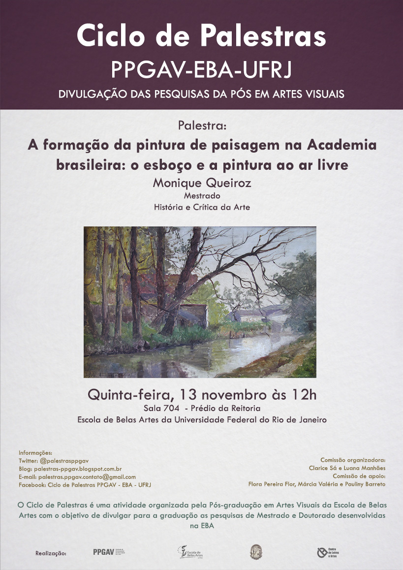 Cartaz Ciclo de Palestras PPGAV - 5º - Monique Queiroz (VIRTUAL)